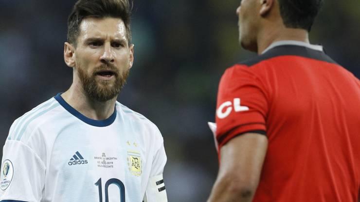 Lionel Messi war mit Schiedsrichter Zambrano unzufrieden