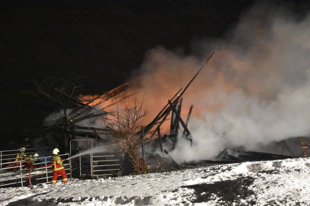 Scheunenbrand Amden (© Kapo SG)