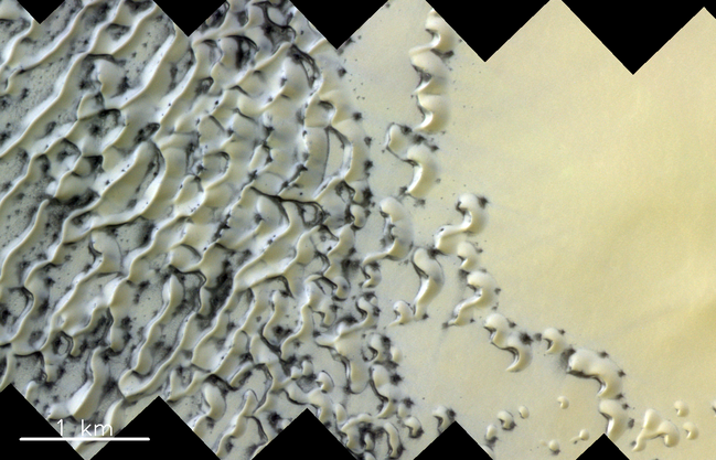 Nordpolar-Dünen auf dem Mars.