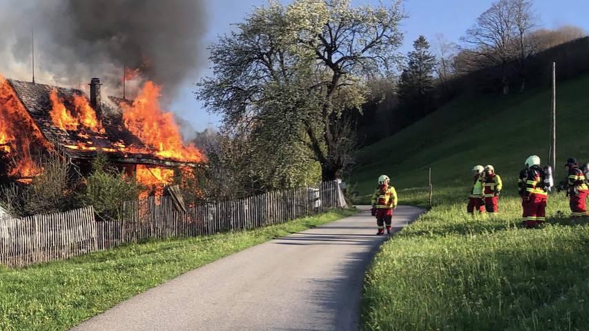 Neu St.Johann: Feuer zerstört Wohnhaus vollständig
