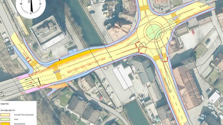 Der Plan für den Kreiselbau am Kreuzplatz