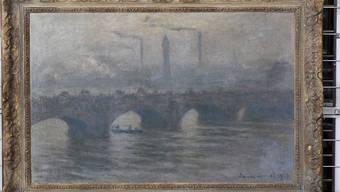 Das Gemälde 'Waterloo Bridge (1903) von Claude Monet (1840-1926) stammt aus dem Gurlitt-Kunstfund. Es wurde am Dienstag in Bonn der Öffentlichkeit gezeigt.