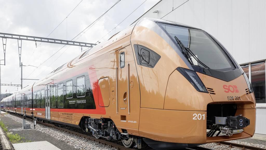 Ab 2021 fährt die SOB mit neuem Rollmaterial stündlich von Chur nach Bern.