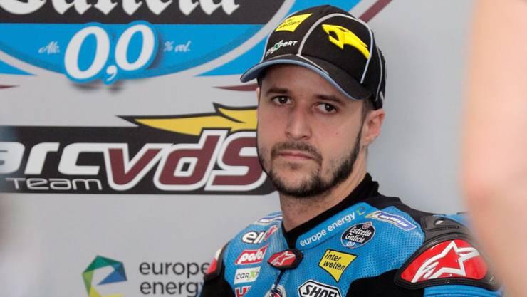Muss sich erst wieder an die Moto2-Maschinen gewöhnen: Tom Lüthi nach dem ersten Testtag in Jerez