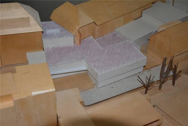 Das Modell im Stadthaus zeigt es: So könnte der zweistöckige Anbau im Hinterhof der Kirchgasse 17 dereinst aussehen.