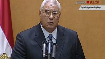 Adli Mansur ist der Übergangspräsident Ägyptens.