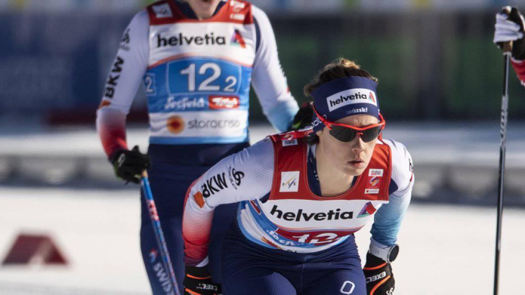 Souverän in den Final, dort aber ohne Chance: das Schweizer Sprint-Duo Laurien van der Graaff (vorne) und Nadine Fähndrich