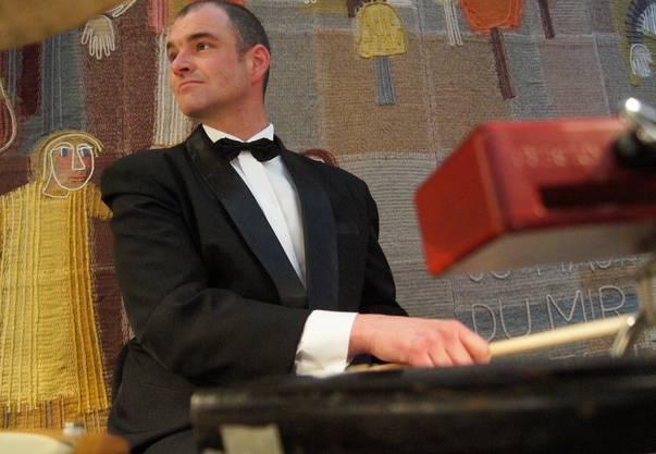 Schlagzeuger Sandro Nagel