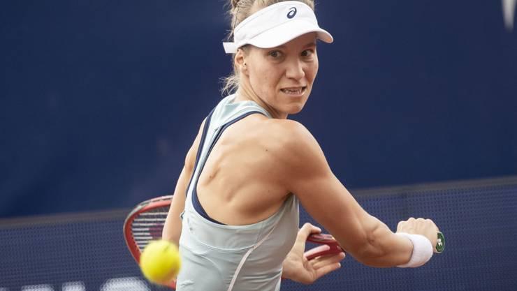 Steigerte sich nach unsicherem Beginn deutlich: Viktorija Golubic beim WTA-Turnier in Lugano