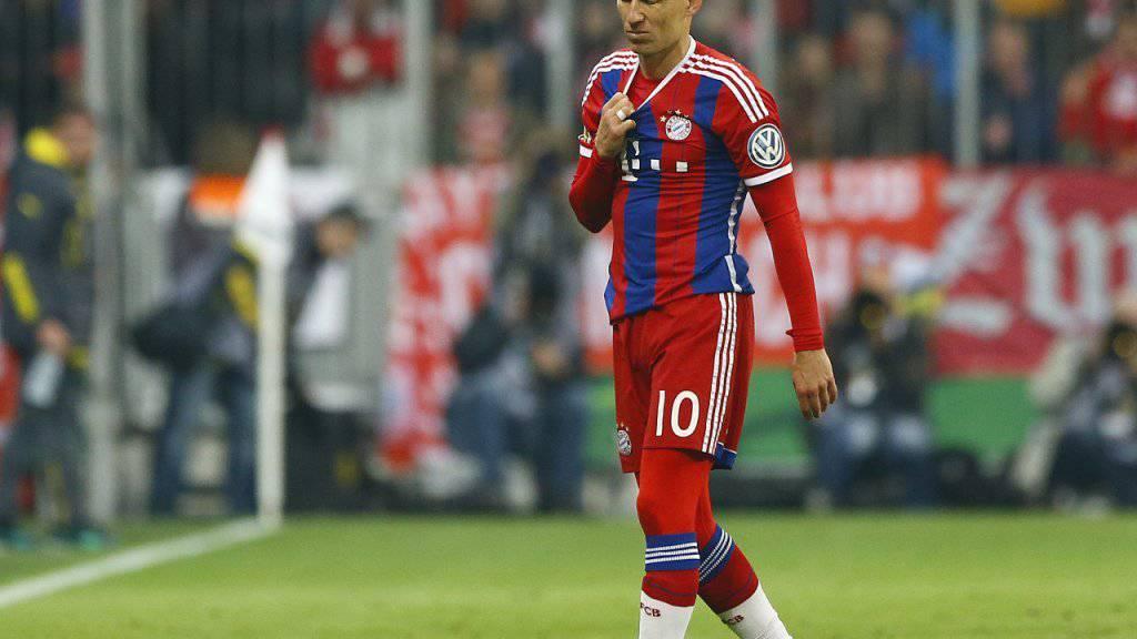 Fällt nach dem ersten Testspiel der Saison erneut mit einer Muskelverletzung im Adduktorenbereich aus: Bayern Münchens Arjen Robben