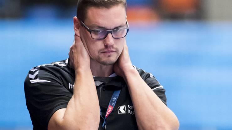 Kadetten-Coach Peter Kukucka zeigt sich ob der Niederlage enttäuscht