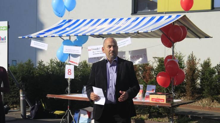 Martin Brunner, Vizepräsident der Gemeinde Oensingen, begrüsste zum ersten Mobilitätstag in Oensingen.