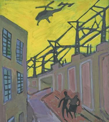 Dresdener Stimmungsbild: Lutz Fleischer, «Trunkenes Paar», 1981.
