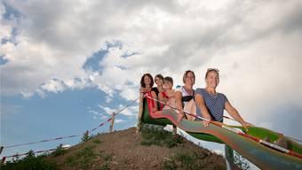 Vorstandsfrauen des Vereins «familie aktiv»: (Von rechts) Nadja Jäggi, Irene Rüfenacht, Annegret Rhiner, Steffi Jutzi und Alexandra Büchel.
