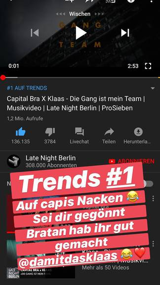 Capital Bras Reaktion auf das Video