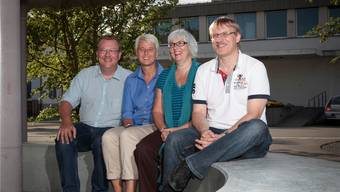 Saalbaukommission: Markus Peter, Silvia Reidy, Brigitte Schwendener und Ruedi Hug (v.l.)