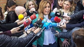 Wahl gewonnen: PSOE-Regierungschefin Susana Diaz
