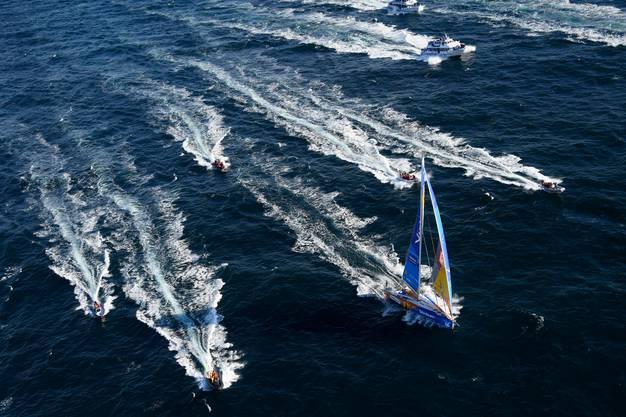 Am Sonntag verlassen bei der Vendée Globe 33 Boote den Hafen von Les Sables-d'Olonne. Vor ihnen liegen über 40'000 Kilometer Seeweg.