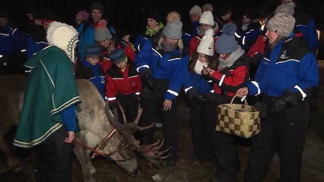 Familie Nagy reist nach Lappland und trifft den Samichlaus in seiner Heimat