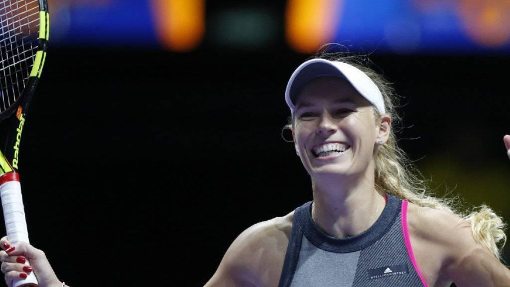 Trifft im Endspiel der WTA-Finals in Singapur auf Venus Williams: Caroline Wozniacki