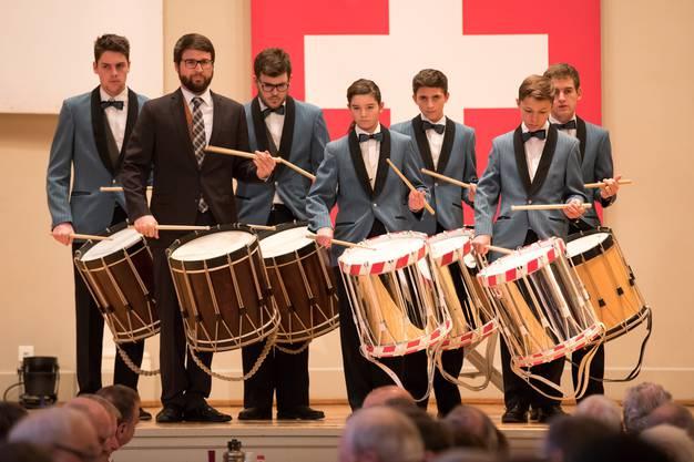Auch die Tambouren der Jugendmusik Olten hatten ihren Auftritt