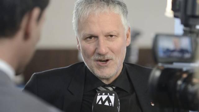 Peter Gomm bei einem TV-Interview (Archivbild)