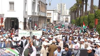 Marokkaner demonstrieren für Palästinenser