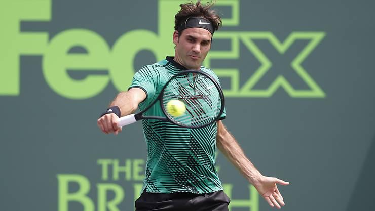 Roger Federer nimmt am ATP-Turnier in Stuttgart teil.