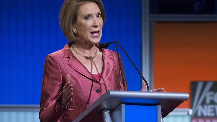 Der US-Wahlkampf - im Bild Kandidatin Carly Fiorina bei einer Veranstaltung des TV-Senders Fox News - hat dem Medienunternehmen 21st Century Fox einen Geldsegen beschert. (Archivbild)
