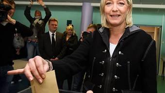 Marine Le Pen in Henin-Beaumont, Nordfrankreich