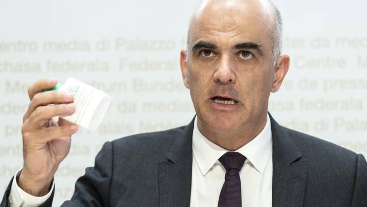 Gesundheitsminister Alain Berset stellte am Freitag die neue regionale Risikobeurteilung vor.