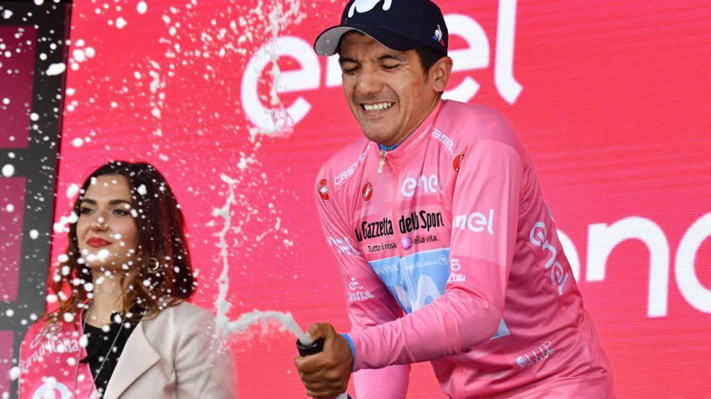 Richard Carapaz - nur noch 17 km Zeitfahren trennen ihn vom Gesamtsieg im Giro d'Italia