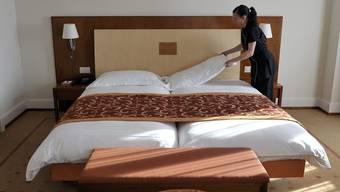 Better vieler Schweizer Hotels waren im August schlecht belegt. (Symbolbild)