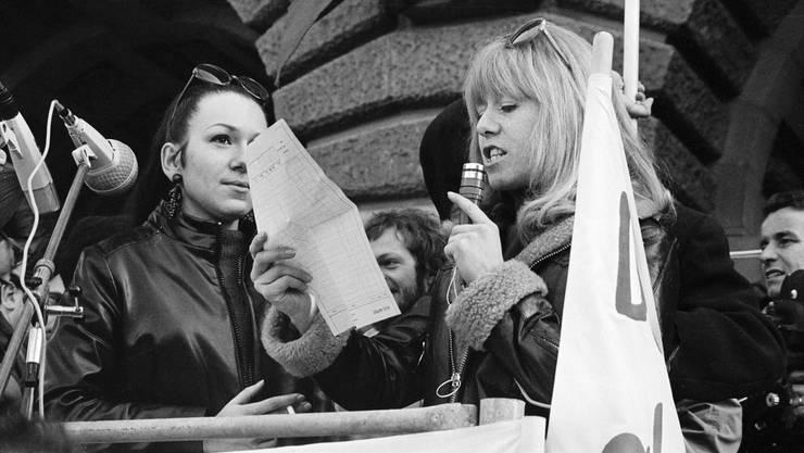 Vor 50 Jahren ging es beim Marsch auf Bern um das Frauenstimmrecht.