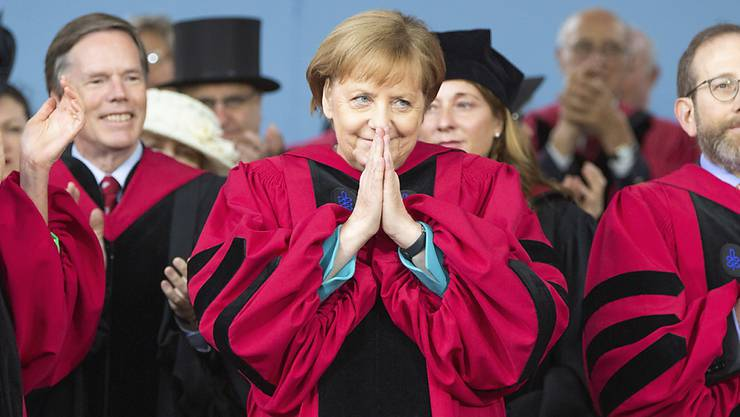 Bundeskanzlerin Angela Merkel ist von der Harvard-Universität mit einem Ehrendoktortitel ausgezeichnet worden.