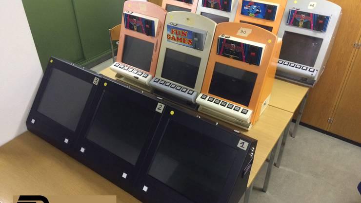Bei einer Polizeikontrolle im Bezirk Dietikon wurden unter anderem Spielautomaten...