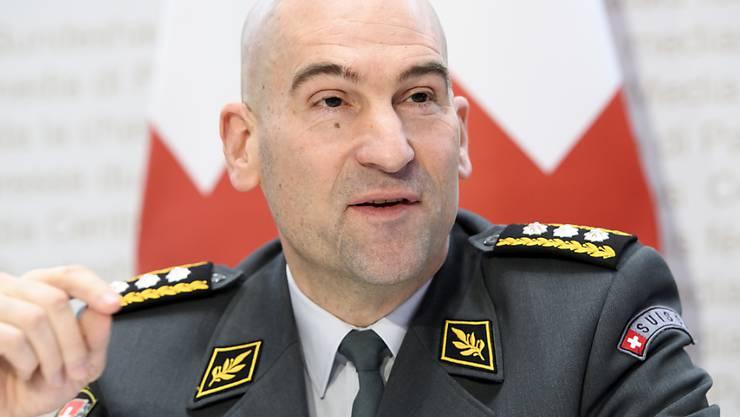 Über 100 Gesuche für Einsätze im Zusammenhang mit dem Coronavirus hat die Armee bereits erhalten. Dies gab Armeechef Thomas Süssli in einem Interview bekannt. (Archivbild)