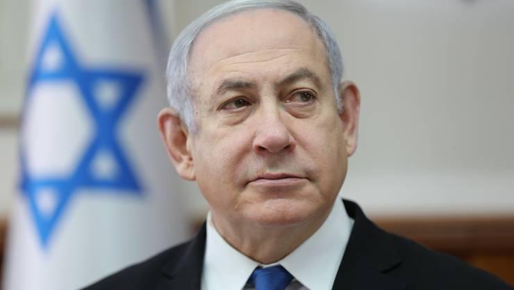 Läuft gut für ihn: Noch-Premierminister Benjamin Netanjahu. (Bild:Keystone)