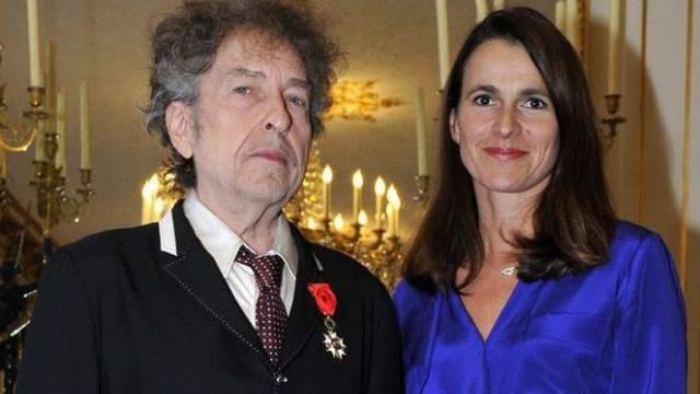 Dylan mit französischer Kulturministerin Filippetti
