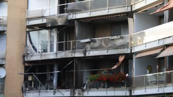 Heftiger Grillbrand in Mehrfamilienhaus in Oftringen
