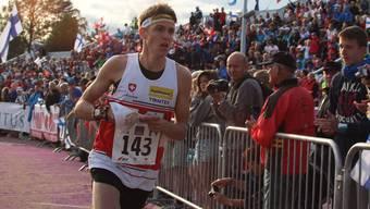 Dem entthronten Sprint-Weltmeister Matthias Kyburz fehlten acht Sekunden zu einer Medaille. Foto: Keystone