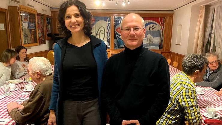 Nationalrätin Gabriela Suter und Grossrat Max Chopard-Acklin
