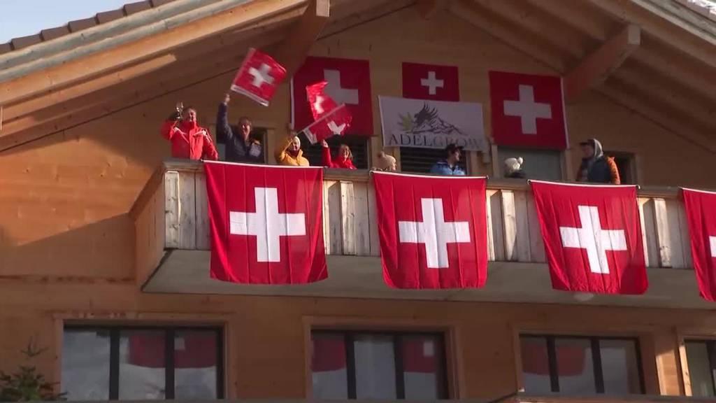 Starke Schweizer in Adelboden: Loïc Meillard wird Dritter