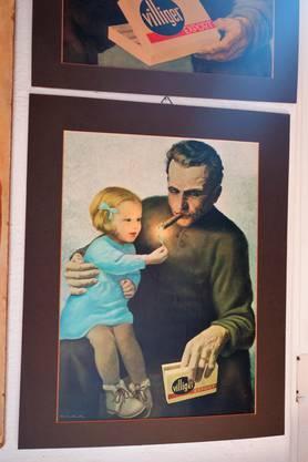 Tabakmuseum Menziken; das Mädchen auf den Plakat ist Monika Villiger, die heute Führungen im Museum macht.