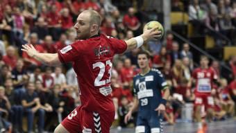 Patrick Mathys in Action für den SC Siggenthal - damals in der Saison 2015/2016 - gegen den TV Endingen (Bild: Alexander Wagner)