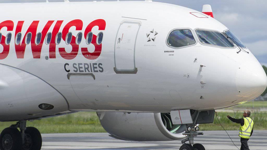 Airbus übernimmt die C-Series von Bombardier: ein C-Series-Flugzeug der Swiss (Archivbild).