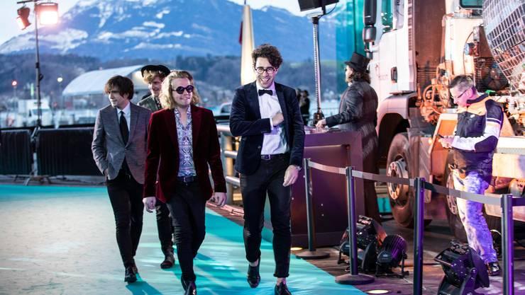 Pegasus, auf dem Weg zum Swiss Music Award 2020 im KKL.