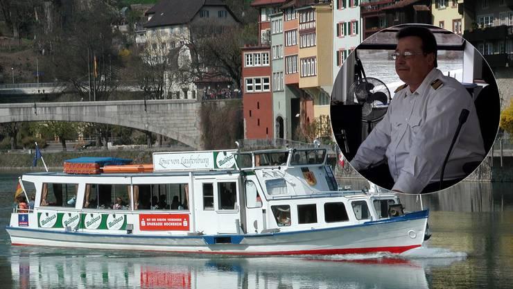 Holger Grosse möchte zusammen mit seiner Partnerin das Fahrgastschiff «Löwe von Laufenburg»erwerben und die Schifffahrt in Laufenburg erhalten.