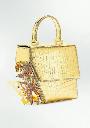 Tasche aus Krokodilleder und Strasssteinen von Ming Ray