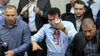 Chaos im mazedonischen Parlament
